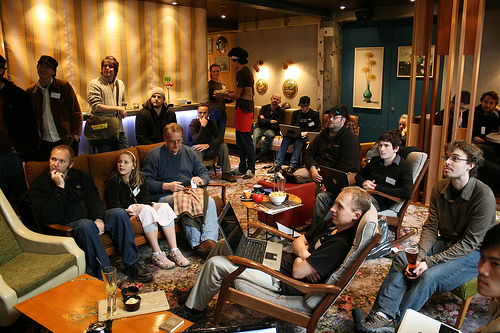 Hackfest participants collaborating